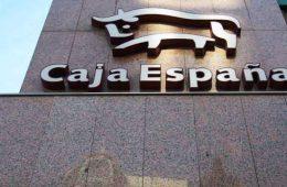 LOGOTIPO DE CAJA ESPAÑA EN LA OFICINA DE ORDOÑO II