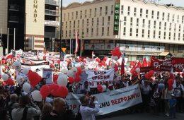 Polonia. Manifestación contra las hiptoecas indexadas en francos suizos.